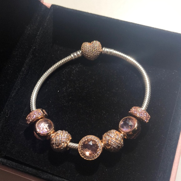 92f9ecbfd9a05 Two Toned Pandora Rose bracelet!